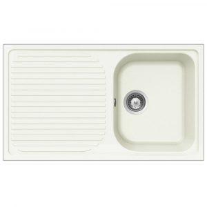 Schock Lithos D100 1.0 Bowl Reversible Alpina White Granite Kitchen Sink & Waste
