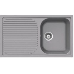 Schock Lithos D100 1.0 Bowl Reversible Croma Grey Granite Kitchen Sink & Waste