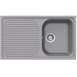 Schock Lithos D100 1.0 Bowl Reversible Croma Grey Granite Kitchen Sink & Waste
