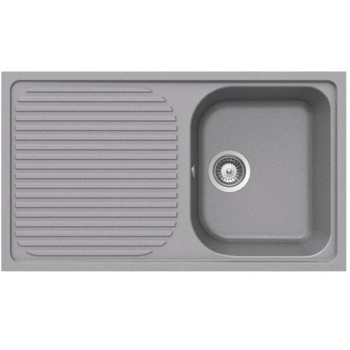 Schock Lithos D100 1.0 Bowl Grey Granite Kitchen Sink & Waste | Reversible