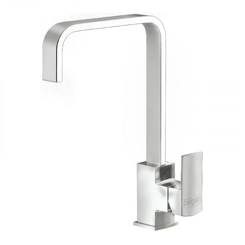 Reginox Astoria Monobloc Swivel Spout U Shaped Spout Kitchen Mixer Tap in Chrome