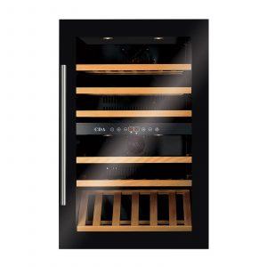 CDA FWV901BL Integrated 90cm High Built-In Dual Zone Wine Cooler In Black