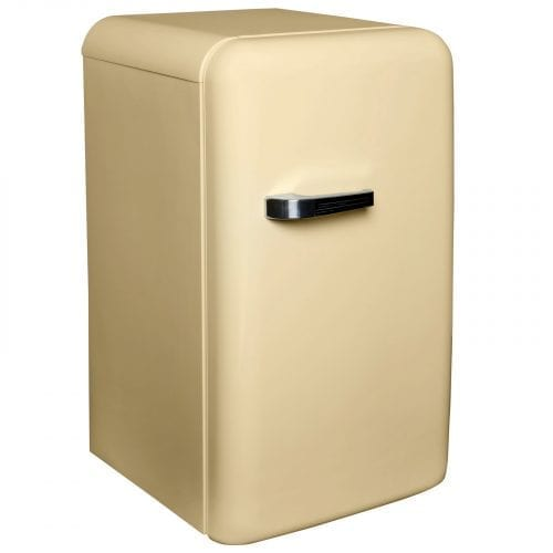 SIA Free-Standing 50's Retro Style Fridge With Ice Box In Cream A++ Rating