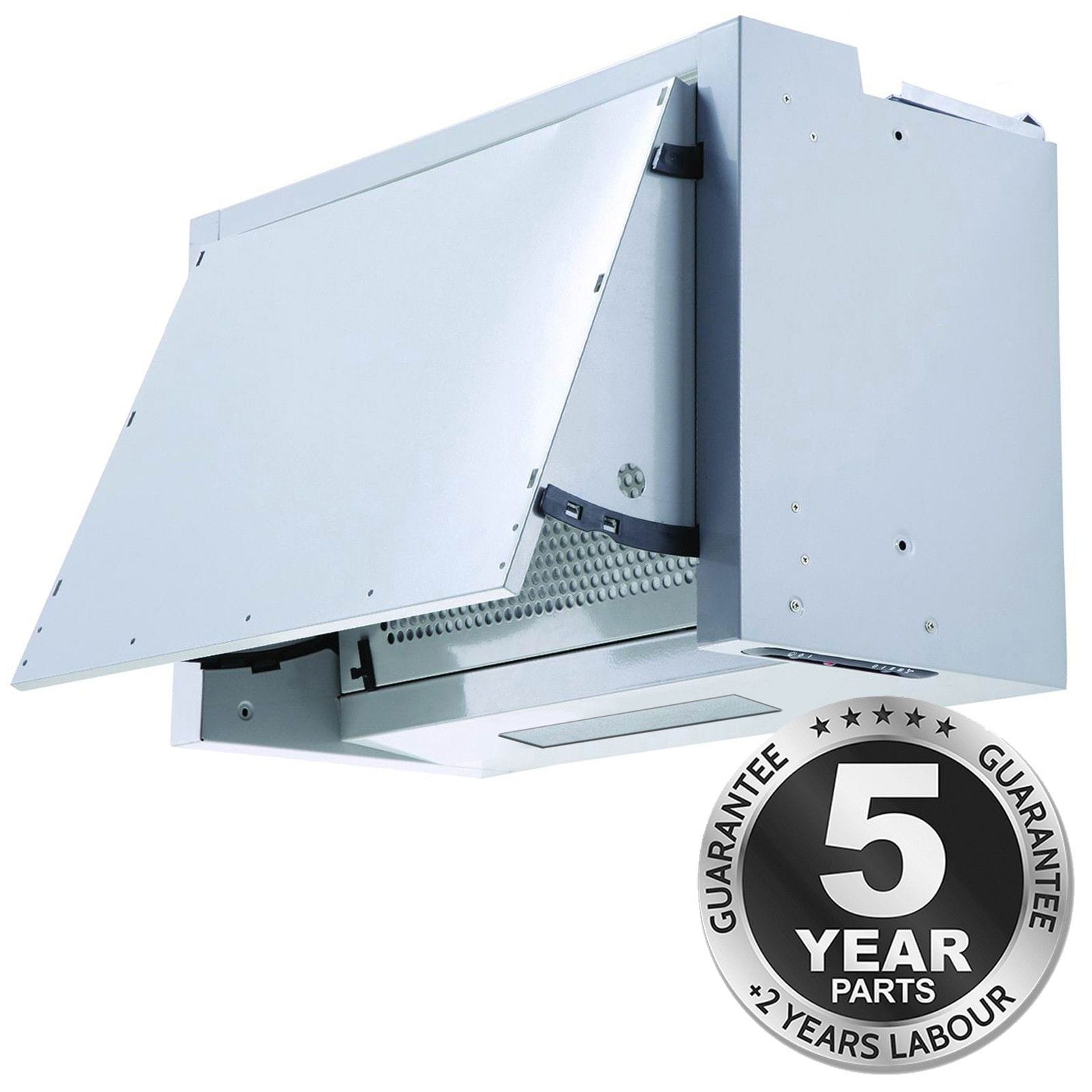 SIA INT60SS 60cm Silver Integrated Built In Cooker Hood ...