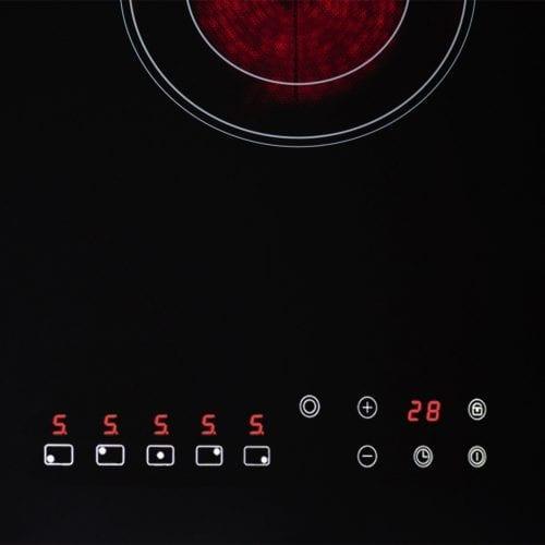 SIA CERH90BL 90cm 5 Zone Frameless Touch Control Electric Ceramic Hob in Black