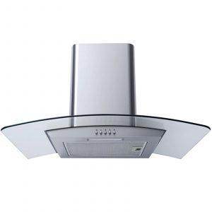 SIA 60cm Single True Fan Oven, 4 Burner Gas Hob And Curved Glass Cooker Hood Fan