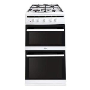 Amica 508TGG2W 50cm Freestanding 4 Burner Gas Double Oven White Cooker