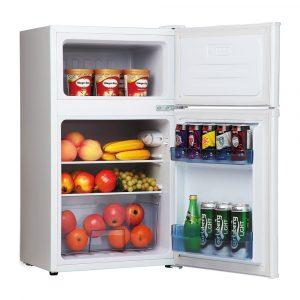 Amica FD1714 50cm White Freestanding Double Door Undercounter Fridge Freezer