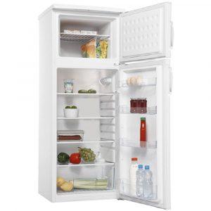 Amica FD2253 55cm White Freestanding Double Door Fridge Freezer