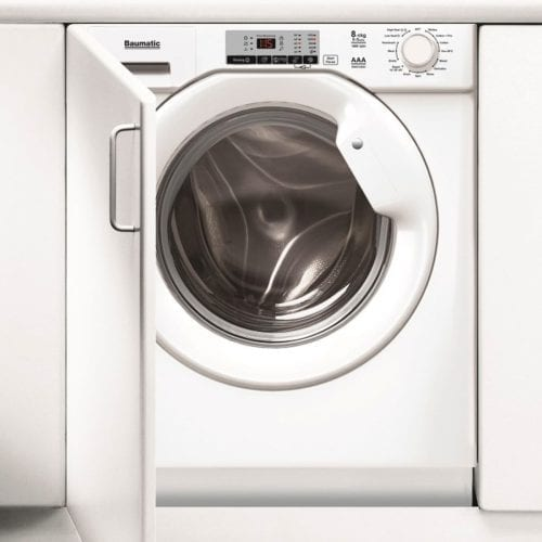 Baumatic BWDI1485D-80 White 8kg Wash 5kg Dry 1400rpm Integrated Washer Dryer