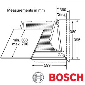 Bosch DHE635BGB 60cm Integrated Kitchen Cooker Hood Extractor Fan Silver