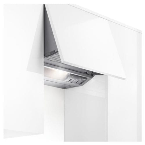 Bosch DHE645MGB 60cm Wide Integrated Cooker Hood Extractor Fan - Metallic Silver
