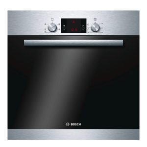 Bosch HBA13B150B Classixx Brushed Steel 3D Hot Air Electric Single Oven