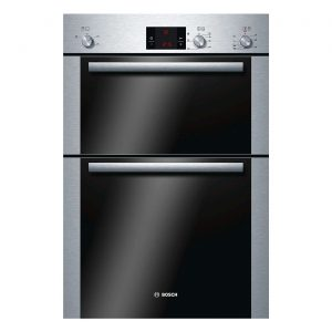 Bosch HBM13B251B Built In Integrated Electric Double Fan Oven - Brushed Steel