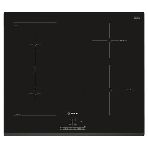 Bosch PWP631BF1B 60cm Black Serie 4 Four Zone Frameless Bevelled Induction Hob