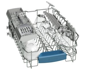 Bosch SPS53M08GB Silver Active Water 9 Place Slimline Freestanding Dishwasher