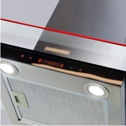 CDA EKN60SS 60cm Flat Glass Cooker Hood With Edge Lighting - Stainless Steel
