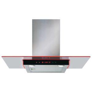 CDA EKN90SS 90cm Stainless Steel Flat Glass Cooker Hood Fan With Edge Lighting