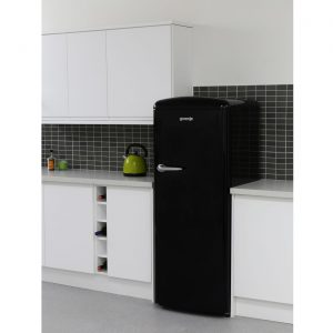 Gorenje ORB153BK Freestanding Retro Tall Larder Fridge with Ice Box - Black