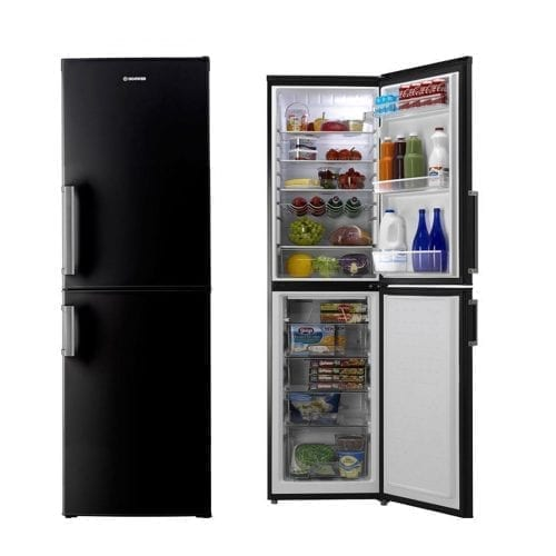 Hoover HVBF5192BHK 197 x 55cm Frost Free Freestanding Fridge Freezer - Black