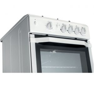 INDESIT I5GGW 50cm Freestanding 4 Burner Gas Single Oven Grill Cooker - White