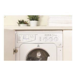 Indesit IWDE126 White 6kg Wash 5kg Dry 1200rpm Integrated Washer Dryer