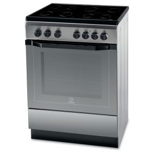 Indesit I6VV2AX 60cm Stainless Steel Electric Cooker with Grill & Ceramic Hob