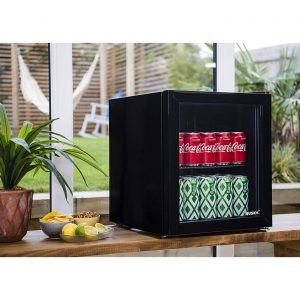 Husky HUS-HY192 Counter Top Drinks Cooler Mini Fridge Drinks Chiller 48L - Black