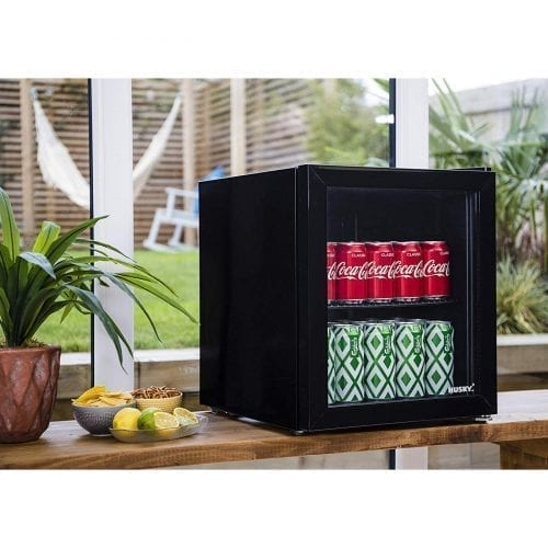 Husky HUS-HY192 Counter Top Drinks Cooler Mini Fridge Drinks Chiller 48L - Black