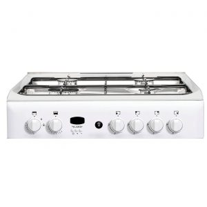 Indesit ID60G2W 60cm Freestanding 4 Burner Gas Double Oven Cooker - White