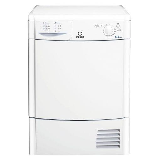 Indesit IDC8T3B EcoTime 8kg Freestanding Condenser Tumble Dryer - White