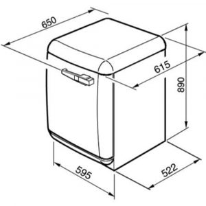 Smeg WMFABP1 50s Style 5kg 1400rpm Freestanding Washing Machine - Cream