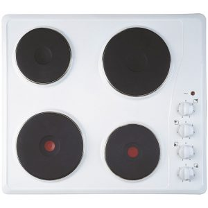 INDESIT TI 60 W Electric 4 Burner 60cm Solid Plate Hob - White