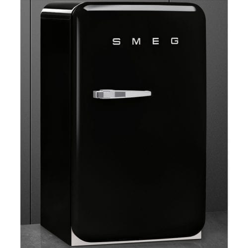 Smeg FAB10RNE 55cm Wide Retro Style Right Hinge Freestanding Fridge - Black