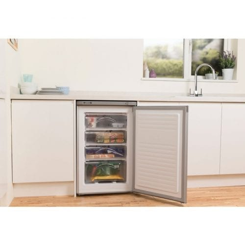 Indesit TZAA 10 SI UK.1 Undercounter 77L Upright Larder Freezer - Silver
