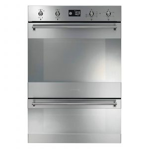 Smeg DOSP38X Stainless Steel Electric Built-in Double Oven Pyrolytic Cleaning