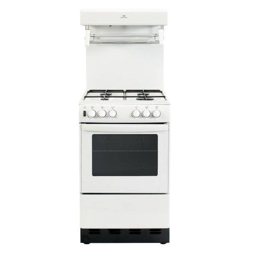 New World 50THLG 50cm Free Standing Gas Cooker Single Oven - White