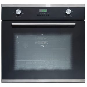SIA 60cm Single Electric Fan Oven, 4 Burner Gas Hob And Curved Glass Cooker Hood