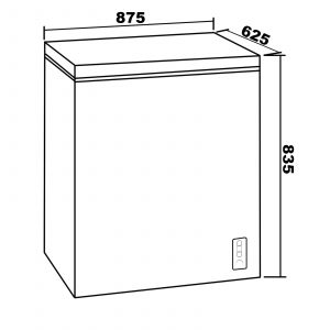 SIA CHE150BL Freestanding 147 Litre Chest Freezer In Black,  A+ Energy Rating