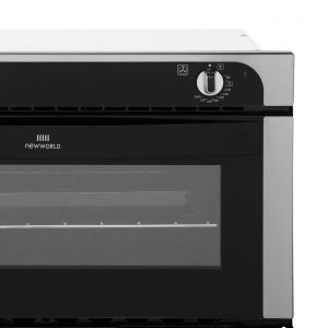 Newworld NW701DO 60cm A Rated Built In Integrated Double Oven in Stainless Steel