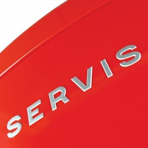 Servis C60185NFR Red Retro Freestanding No Frost Fridge Freezer A+ Energy Rating