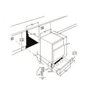 Smeg UKUD7122CSP White 60cm Wide Integrated Under Counter Fridge A+ Rating