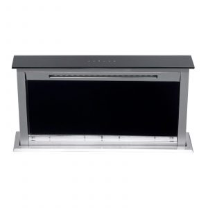 SIA DR61BL 60cm Touch Control Downdraft Black Kitchen Cooker Hood Extractor Fan
