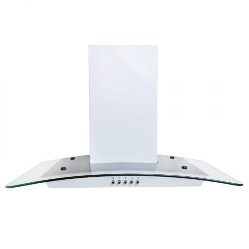 SIA CG61WH 60cm Curved Glass White Chimney Cooker Hood + 3m Ducting Kit
