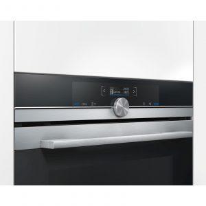 Siemens HB672GBS1B 60cm Stainless Steel Multifunction Pyrolytic Single Oven