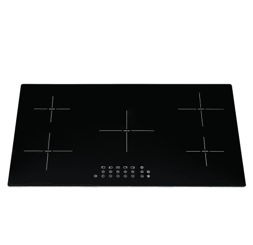 SIA 90cm Black Frameless 5 Zone Touch Control Induction Hob With Child Lock