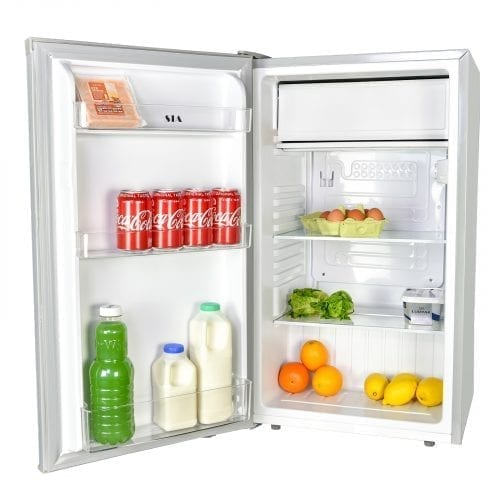 SIA LFSI01SV Silver Free Standing Under Counter Fridge With Ice Box A+ Rating