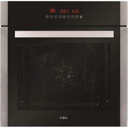 CDA SK410SS 60cm Built In 80L Single LCD Electric 10 Function True Fan Oven