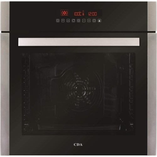 CDA SK410SS 60cm Built In 80L Single LCD Electric 10 Function Oven