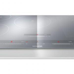 Siemens EH879SP17E Touch Control 81cm Wide Induction Hob in Metal Look Glass